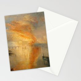 """J.M.W. Turner """"The Burning of the Houses of Lords and Commons""""(1835) Stationery Cards"""