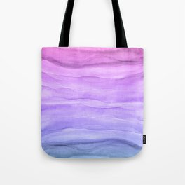 Abstract Watercolor Layers - Purple Ombre Tote Bag