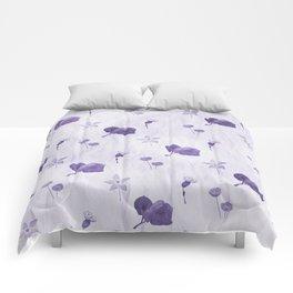 Purple flowers pattern Comforters