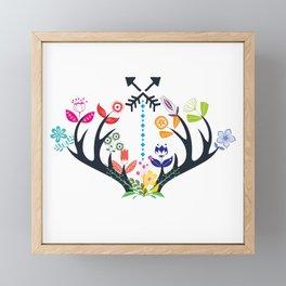 Bohemian Antlers Framed Mini Art Print