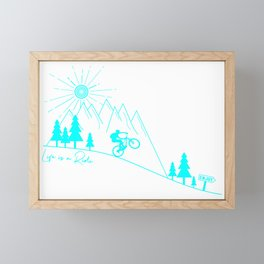 mountain bike MTB cycling mountain biker cycling bicycle cyclist gift Framed Mini Art Print