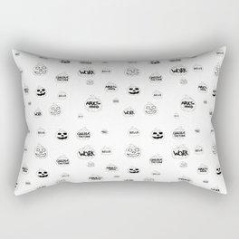 Scariest Pumpkins Around Rectangular Pillow
