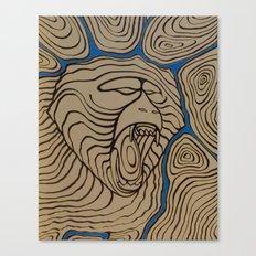 angry baboon Canvas Print