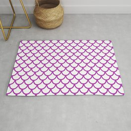 Scales (Purple & White Pattern) Rug
