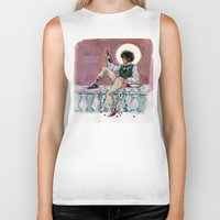 grantaire Biker Tanks featuring les miseràbles: lux in tenebris by Daniela Viçoso