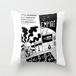 Multitude, tribute to Antonio Negri Throw Pillow