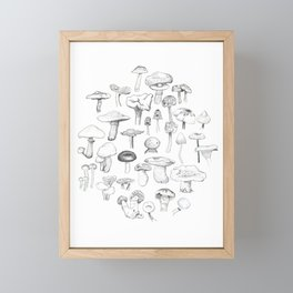 The mushroom gang Framed Mini Art Print