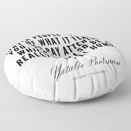 25     | Natalie Portman Quotes | 190721 Floor Pillow
