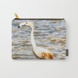 Pretty Flamingo Fledgling Watercolor Carry-All Pouch