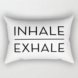 Inhale Exhale Breathe Quote Rectangular Pillow