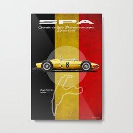 Spa Racetrack Vintage Metal Print