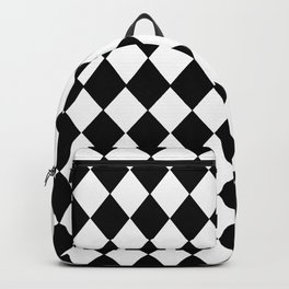 HARLEQUIN BLACK AND WHITE PATTERN #2 Backpack