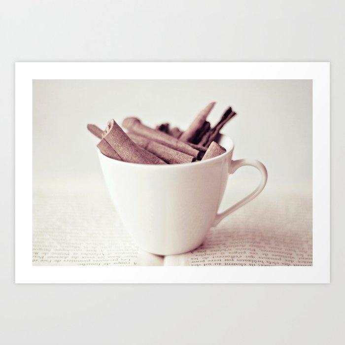 Cinnamon Cup Art Print