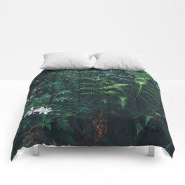 Fleurs Vertes Comforters