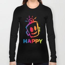 HAPPY  Stripes Long Sleeve T-shirt