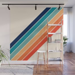 Karanda - 70s Style Classic Retro Stripes Wall Mural