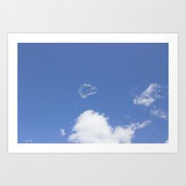 Bubble in Sky Art Print