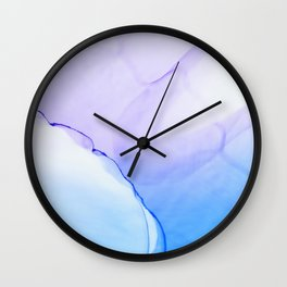 A New Day Fluid ink abstract watercolor Wall Clock