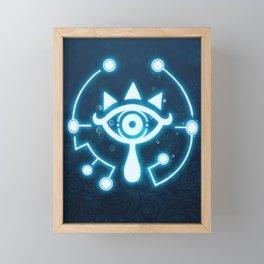 The blue eye Framed Mini Art Print