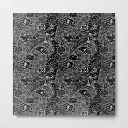 Alchemy 28a Black and White Metal Print