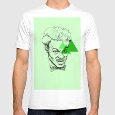 Chuck Berry White MEDIUM Mens Fitted Tee
