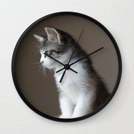 Jack - Kitten Portrait #1 (2016) Wall Clock