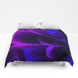 Stylized Half Flower Indigo Comforters