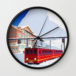 Grindelwald Ski Poster Wall Clock