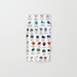 Crystal meanings and stone colours Hand & Bath Towel