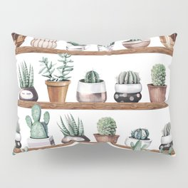 Cactus Shelf Rose Gold Green Pillow Sham