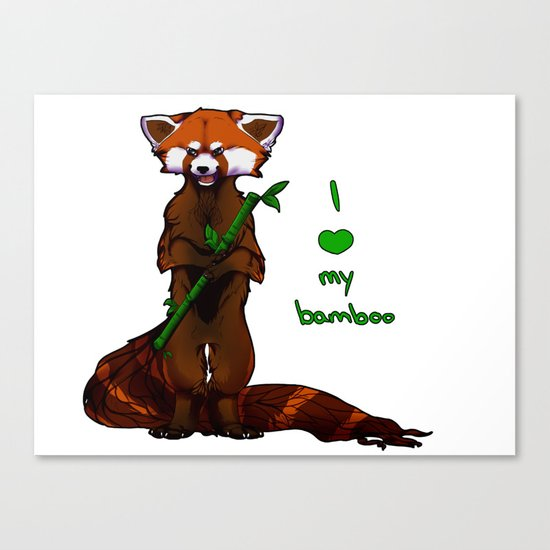 I love my bamboo (tablet) Canvas Print