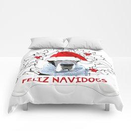 Feliz Navidog Comforters