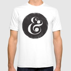 AMPERSAND White Mens Fitted Tee MEDIUM