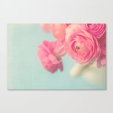 Cotton Candy, Pink Ranunculus Canvas Print
