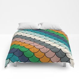 Colorful scales pattern I Comforters