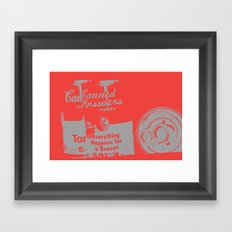 Canned Answers Framed Art Print