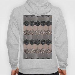 Blush Hexagon Glitter Glam #3 #geometric #decor #art #society6 Hoody