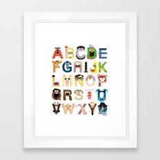 Muppet Alphabet Framed Art Print