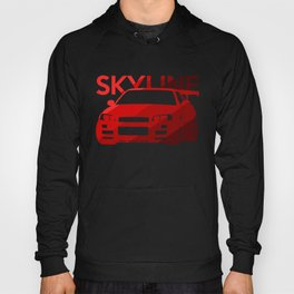 Nissan Skyline GT-R  - classic red - Hoody