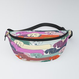 colored doggie pattern Fanny Pack