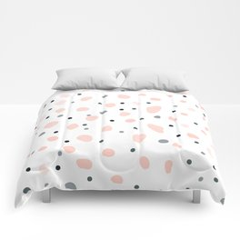 Pastel Blossoms Dreamy Pink Pretty Pattern Comforters