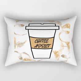 Coffee addict stain Rectangular Pillow