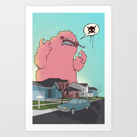 Die like the Dinosaurs Art Print