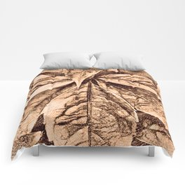 Warm Toned Sepia Sketcing Comforters