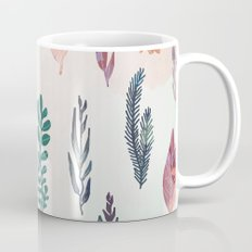 Mix of plants and watercolor leaves Mug