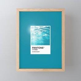 Pantone Series – Underwater Framed Mini Art Print
