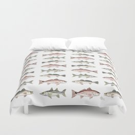 Pattern: Inshore Slam ~ Redfish, Snook, Trout by Amber Marine ~ (Copyright 2013) Duvet Cover