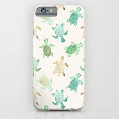 Gilded Jade & Mint Turtles Slim Case iPhone 6