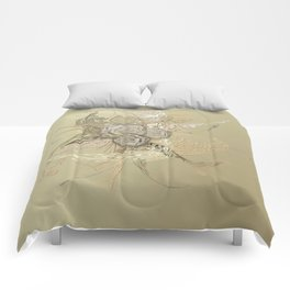 50 Shades of lace Gold Gold Comforters