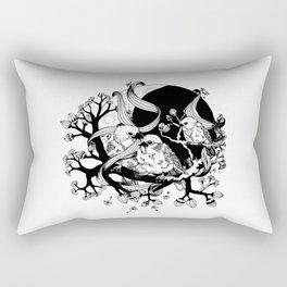 When The Sparrows Return Rectangular Pillow